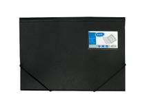 Snoddmapp Bantex A4 3-klaff PP med visitkortsficka svart