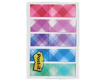 Märkflikar Post-it Index 11,9x43,1mm Plaid 5x20st/fp