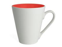 Kaffemugg Attila 20cl vit/röd