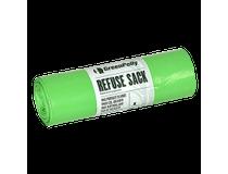 Sopsäck med handtag GreenPolly 125l 0,045mm transparent 10st/rl