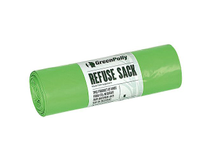 Sopsäck GreenPolly 30l 0,011mm grön 100st/rulle