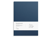 Anteckningsbok A4 inbunden linjerat blå