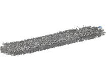 Mopp Vikan Damp 43 kardborre grå 60cm