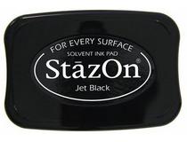 Stämpeldyna StazOn 40x70mm svart