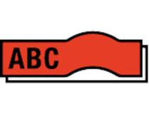 Märkband Dymo D1 9mm svart/röd