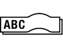 Märkband Dymo D1 Polyester 12mm svart/vit