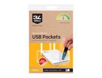 USB-ficka 3L självhäftande 90x52mm 100st/fp