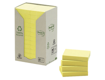 Post-it Recycled 38x51 gul 24st/fp