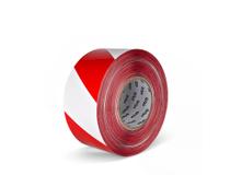 Varningsband 75mmx500m röd/vit