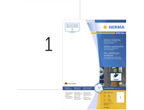 Utomhusetiketter Herma vita 210x297 A4 50st/fp