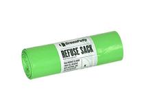 Sopsäck med handtag GreenPolly 125l 0,045mm grön 10st/rl
