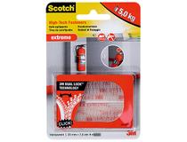 Kardborreband Scotch Extreme 25x75mm transparent 12st/fp