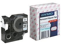 Märkband Dymo M1120 Polyester 12mm svart/vit 5st/fp