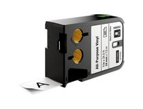 Märkband flerfunktionsvinyl Dymo XTL 24mm svart/vit