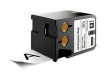 Märkband flerfunktionsvinyl Dymo XTL 54mm svart/vit