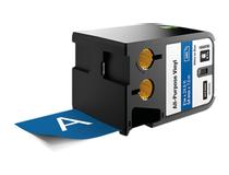 Märkband flerfunktionsvinyl Dymo XTL 54mm vit/blå