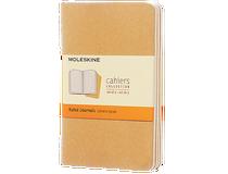 Anteckningsbok Moleskine Cahier Pocket linjerat brun