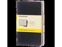 Anteckningsbok Moleskine Cahier Pocket rutat svart