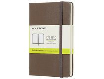 Anteckningsbok Moleskine Classic Pocket olinjerad brun
