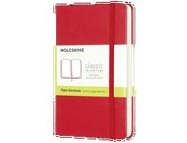 Anteckningsbok Moleskine Classic Pocket olinjerad röd