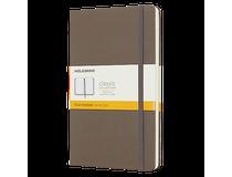 Anteckningsbok Moleskine Classic Large linjerad brun