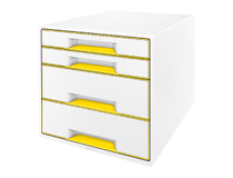 Förvaringsbox Leitz WOW vit/gul