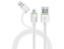 Kabel Leitz med adapter Lightning/mikro-USB 1m