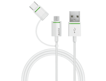 Kabel Leitz med adapter USB-C/mikro-USB 1m