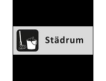 Skylt Städrum 225x80mm aluminium