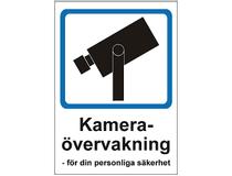 Skylt Kameraövervakning 148x210mm plast