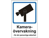 Skylt Kameraövervakning 297x210mm plast