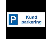 Parkeringsskylt Kundparkering 297x105mm aluminium
