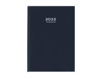 Veckojournal konstläder mörkblå 2022