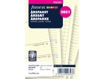 Filofax Pocket Årsplan refill 2021