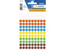 Etiketter 8mm rund blandade färger 540st/fp