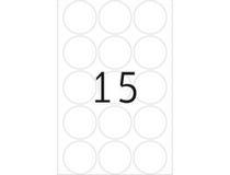 Etiketter 32mm rund transparent 240st/fp