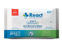 Desinfektionsservett React 60st/fp