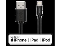 Lightning-sladd Deltaco iPhone/iPad 1m svart