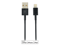 Lightning-sladd Deltaco iPhone/iPad 2m svart