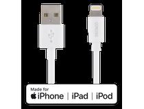 Lightning-sladd Deltaco iPhone/iPad 2m vit