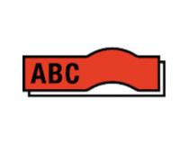 Märkband Brother TZe-421 9mm svart/röd