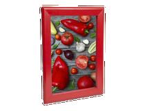 Väggram A4 aluminium röd
