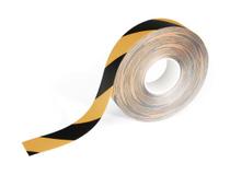 Golvtejp Duraline avtagbar 50mmx15m svart/gul