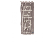 Badlakan Monogram 180x80cm grå