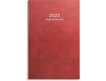Dagbokskalender konstläder röd 2022