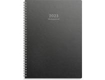 Veckojournal miljökartong svart 2022