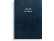 Liten Dagbok konstläder blå 2022