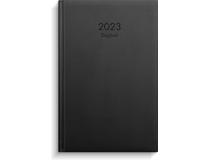 Dagbok konstläder svart 2022