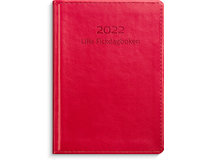 Lilla Fickdagboken konstläder röd 2022