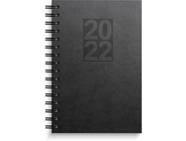 Dagbok Country konstläder svart 2022